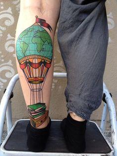 world balloon tattoo