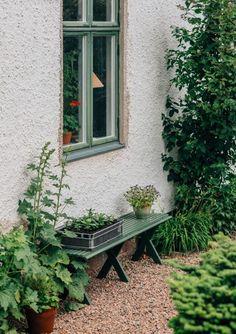Green Farm, Farm Life, Garden Inspiration, Garden Furniture, Exterior Design, Countryside, Greenery, Succulents, Home And Garden