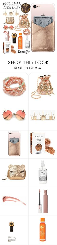 """Festival Fashion ✨"" by casetify ❤ liked on Polyvore featuring TOMORROWLAND, Shashi, Miss Selfridge, Boohoo, Casetify, Furla, A Weathered Penny and Maybelline"
