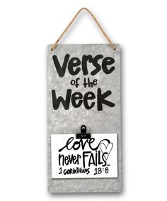 Look at this 'Verse of the Week' Picture Clip Board on #zulily today!