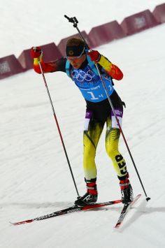 DAY 16:  Simon Schempp of Germany competes during the Biathlon Men's 4x7.5km Relay http://sports.yahoo.com/olympics