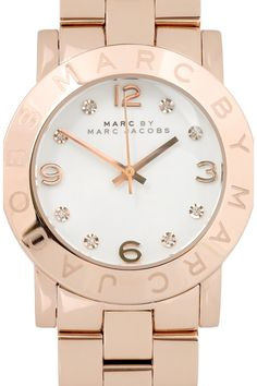 MARC BY MARC JACOBS - Amy crystal-embellished rose gold-plated watch