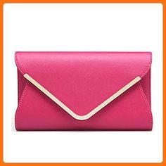 61343ab41d5 Catkit Womens Envelope Evening Handbag Ladies Shoulder Chain Bag Purse Hot  Pink - Top handle bags (*Amazon Partner-Link)