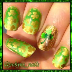 robyns_nails st patrick's day #nail #nails #nailart