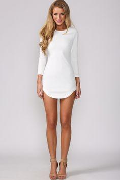 HelloMolly | Smoothie Dress White - Party Dresses - Dresses