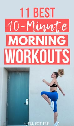 Use these weight loss morning workouts to form a habit that will help you burn fat quickly. One Song Workouts, Mini Workouts, Cheer Workouts, Workout Songs, Quick Workouts, 8 Minute Workout, 1 Hour Workout, Good Mornings Exercise, Morning Workouts