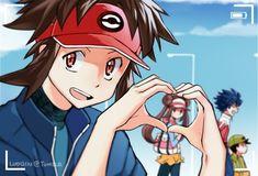 Rakutsu x Faitsu by luoqin Pokemon Mew, Pokemon Manga, Black Pokemon, Pokemon Ships, Pokemon Comics, Pokemon Fan Art, Cute Pokemon, Pokemon Couples, Pokemon People