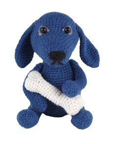 Go Handmade Fido the Dog amigurumi crochet kit pattern #crochet #gift #cute #animal #craft