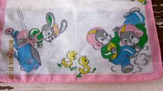 Vintage 1950s Childrens  Hankie  Adorable Animals by angelinabella, $7.50
