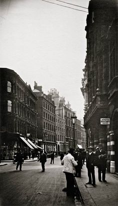 Old Broad Street looking South, 24 July 1911