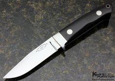 Bob Loveless Custom Knife Riverside Football Logo Micarta Utility Knife - Bob Loveless custom knife - image 1