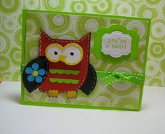 You're a Hoot  OWL Card  Cricut Projects and Ideas | Cricut Projects