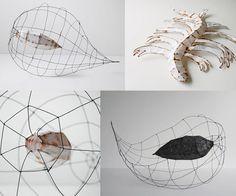 Paper Sculptures by Odine Lang. - All About Papercutting Paper Mache Sculpture, Book Sculpture, Abstract Sculpture, Paper Sculptures, Paper Art, Paper Crafts, Folded Book Art, Book Folding, Paper Lanterns