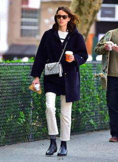 """chungit-up:  """"Alexa Chung out and about in NYC 
