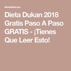 Dieta Dukan 2018 Gratis Paso A Paso GRATIS - ¡Tienes Que Leer Esto!