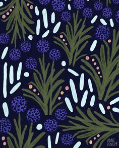 Ideas Plants Pattern Design Illustrations For 2019 Graphic Patterns, Textile Patterns, Print Patterns, Textiles, Textile Design, Plant Illustration, Pattern Illustration, Botanical Illustration, Abstract Pattern