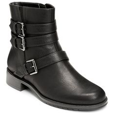 A2 by Aerosoles Long Stride Women's Moto Ankle Boots, Size: medium (9.5), Black