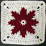 Grannie's Red Flower FREE Granny Square Pattern