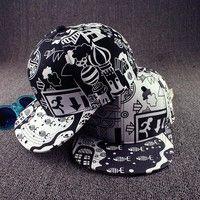 Description  Brand New Graffiti Hip Hop Hat Kpop Baseball Cap Adjustable  Item Specifics  Round dcd8c1ed1f96