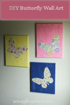 PBK Knock-off: DIY Butterfly Wall Art | Gym Craft Laundry