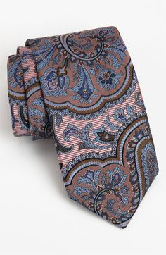 Robert Talbott Woven Silk Tie available at Nordstrom Tall Men Fashion, Mens Fashion, Mens Attire, Mens Suits, Tie And Pocket Square, Pocket Squares, Top Clothing Brands, Groom Ties, Man About Town
