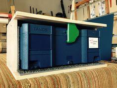 Drawers in the van Van Storage, Truck Storage, Tool Storage, Woodworking Organization, Tool Organization, Woodworking Jigs, Shower Door, Systainer Festool, Van Racking