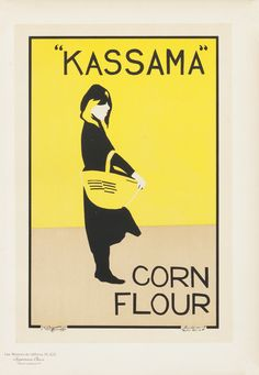 Kassama Corn Flour (from Maitres de l'Affiche) by Pryde & Nicholson, The Beggarstaff Brothers | Vintage Posters at International Poster Gall...