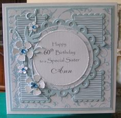 60th Birthday Card By MissyG Cards Handmade Female For Ladies