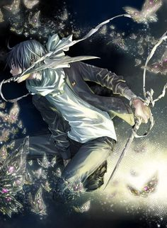 Noragami Anime, Manga Anime, Anime Art, Cool Anime Wallpapers, Fan Art, Kaito, Shounen Ai, Anime Fantasy, Nature Paintings