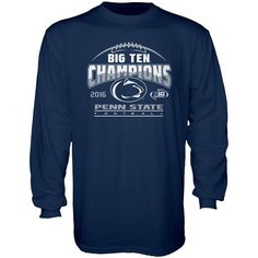 Penn State Nittany Lions Blue 84 2016 Big Ten Football Champions Locker Room Long Sleeve T-Shirt - Navy