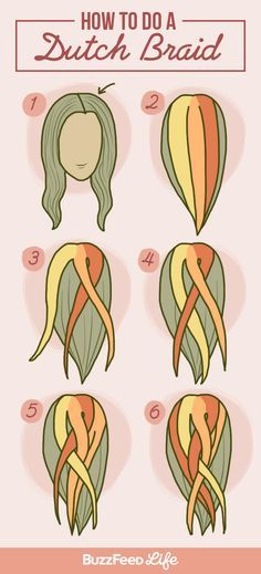 A Dutch braid - Haar-Tutorial einfach - Hair Braided Hairstyles For Black Women Cornrows, Braided Hairstyles Tutorials, Braids For Short Hair, Braid Hairstyles, Braid Tutorials, Braided Updo, Wedding Hairstyles, Updo Hairstyle, Wedding Updo