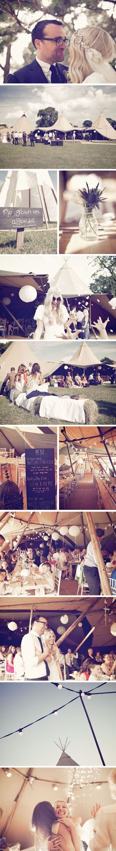 Wedding Tents & Teepees - Sarah & Kevin | PapaKåta this is from standlow farm.