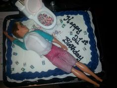 Barbie and Ken Doll cakeFirst attempt Cakes Pinterest Cake