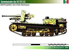 Semovente L3 da 47/32   WW II ITALY MILITARY LAND VEHICLES   Pinterest