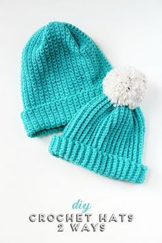 Easy Diy Crochet Hats.