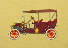 Ford Model-T Oldtimer Stickdatei auf www.gabrielles-embroidery.com