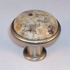 Attirant Designer Satin Nickel New Venetian Gold Granite Knob