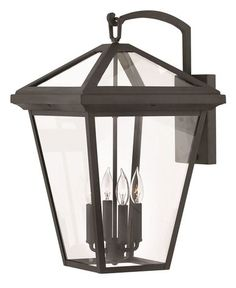 Hinkley Alford Place Outdoor Wall Sconce, 180 Total Watts, Museum Black - Sturdy and works, what more do you need?This Hinkley that is ranked 72 Outdoor Barn Lighting, Outdoor Wall Lantern, Outdoor Wall Sconce, Outdoor Walls, Modern Lighting, Lighting Ideas, Lighting Design, Wall Mounted Light, Hinkley Lighting