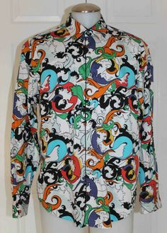 ROBERT GRAHAM SHIRT / COTTON / MULTI COLORED / UNIQUE / MEN XL Mens Printed Shirts, Robert Graham, Tall Guys, Signature Style, Colorful Shirts, Vanity, Dresses With Sleeves, Shirt Dress, Best Deals