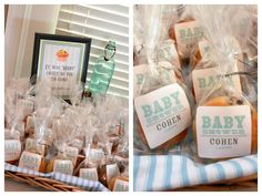 muffin favors #favors #baby shower