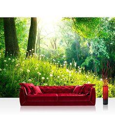 Raumteiler Vorhang Gardine Wald Natur Pflanze Baum Grün Romantik Licht Blatt 60