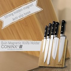 Will you use our amazing Coninx Knife Holders this weekend? Let us know! #tgif #weekend #knifeholder#kitchenaccessories #kitchen #kitchendetails#kitchendesign #kitchentools #amazon#coninx #knifeblock #instafollow #likeforlike#follow #knifestorage #knife #kitchenknives #design #amazondeals #deals #buy #bamboo #wood