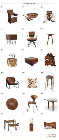 pantone emperador interior design product roundup, brown decor, brown home decor, brown interior design, brown living room decor, 2018 home color trends