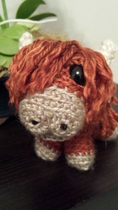 This is a CROCHET PATTERN and NOT the finished toy----  This wee little cattle wants to find a home with you. Hes a miniature memento of