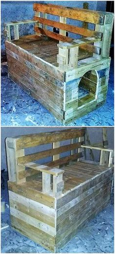 New wood pallet bench outdoor seating 27 Ideas Wood Pallet Tables, Pallet Seating, Pallet Shelves, Wooden Pallets, Outdoor Seating, Pallet Furniture, Wood Table, Pallet Benches, Outdoor Pallet