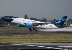 Airbus A330 making one of it's last landings as one of Mexicana's fleet aircrafts.