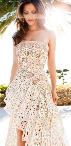 Hot New Looks For Spring2014 - Style Estate - white lace maxi dress