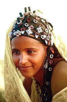 Tuareg woman - Saharan interior of North Africa.