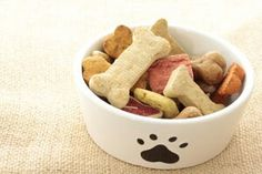 Basic Dog Biscuits  These basic biscuits can be customized to cater to your canine's palette  Ingredients  2 ½ cups whole wheat flour (substitute regular flour or oats if your dog is sensitive to wheat)1 tsp. salt (or less)1 tsp. Beef or chicken Bouillon granules (can substitute beef or chicken broth/stock)½ cup hot water  Optional Add ins  Bacon or chicken broth, eggs, oats, liver powder, wheat germ, shredded cheese, bacon bits  Directions  Preheat oven to 350 degreesDissolve bouillon in…