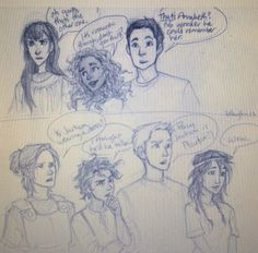 Percabeth reunion reactions. :-) Who is the girl standing next to Leo?